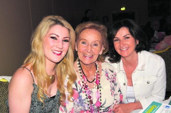 Alison, Lucy and Kathy Vard (grand-daughter; grandmother and mother) supporting performer Lisa Vard