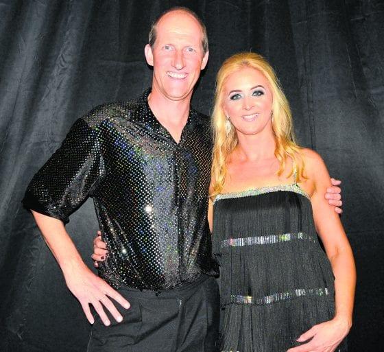 Jimmy Fearon and Caroline Hoey danced the CHA-CHA