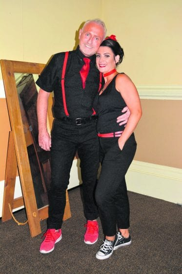 Gerard Whelan of Gerard Paul hairdressing and ELisa Dempsey danced the PasoDOBLE