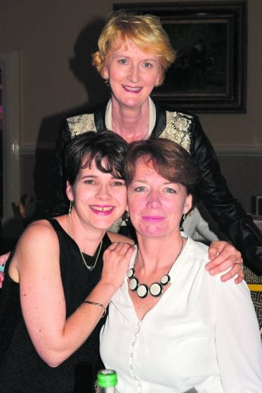 Helen Lambe and Ann O'Regan with Fiona Moore
