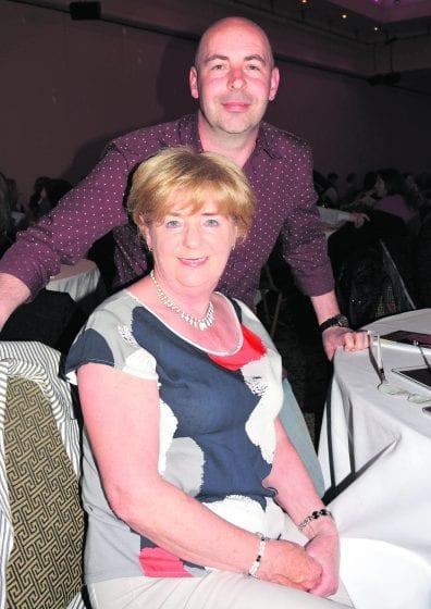 Eileen byrne with son Darragh Byrne