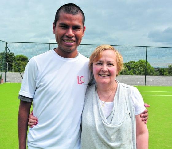 212d017d0f5d4 Lyall Cohen of LC Tennis Academy with his mum Bertha Cohen, sign language  interpreter
