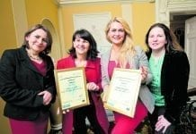 Pauline Logan, network manager, Dublin City LEO Women in Business Network; Anita Donoghue, owner of The Hair Cafe Salon; Rita Smyth, Role Players for Training, and Mary McSweeney, deputy head of enterprise and economic development, Dublin City LEO.