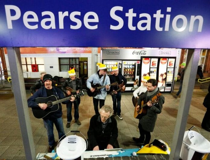 Tommy Keyes at Pearse Station