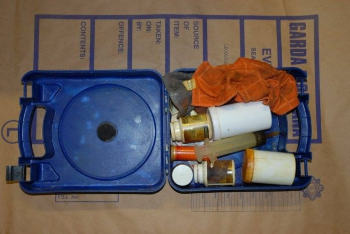 Some of the drug paraphernalia discovered at the suspected crystal meth lab in Walkinstown