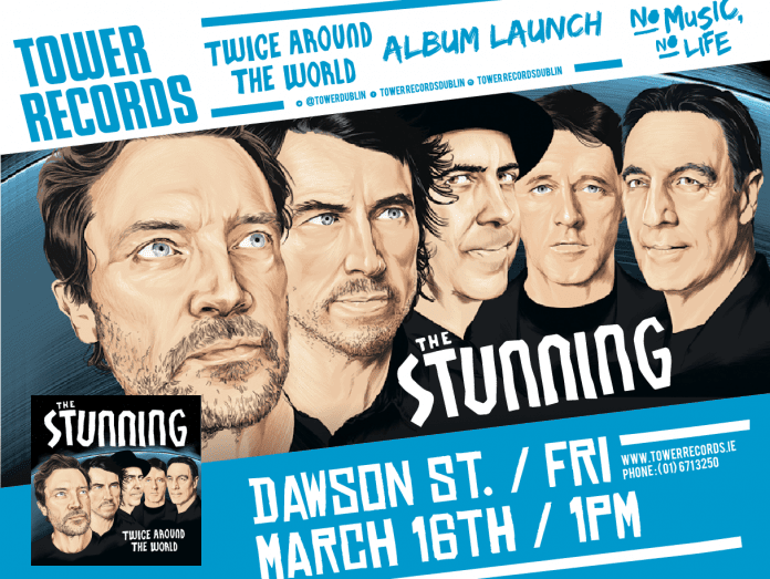 Poster for The Stunning's Twice Around the World Album Launch