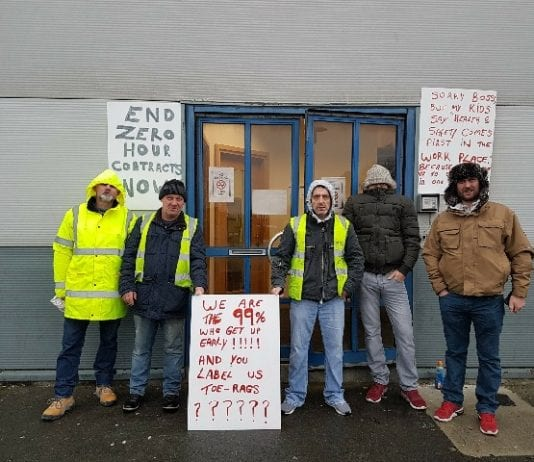 Agency workers have been protesting outside O'Neill and Brennan in Ballymount