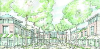 Sketch of Imagine Dundrum's proposed alternative plans for Dundrum village