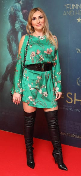 Monika Walsh at the Irish premiere of The Shape of Water at The Lighthouse Cinema, Dublin Picture Brian McEvoy Photography No Repro fee for one use
