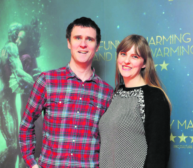 Kevin Burke and Leslie-Ann Horgan at the Irish premiere of The Shape of Water at The Lighthouse Cinema, Dublin Picture Brian McEvoy Photography No Repro fee for one use