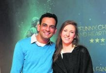 Kunal Gill and Karen Reid at the Irish premiere of The Shape of Water at The Lighthouse Cinema,