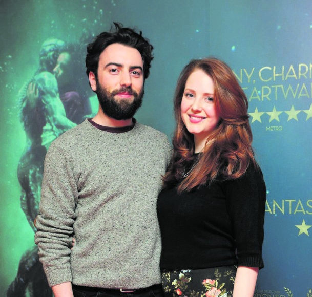 David O'Dwyer and Roisin O'Donovan at the Irish premiere of The Shape of Water at The Lighthouse Cinema, Dublin Picture Brian McEvoy Photography No Repro fee for one use