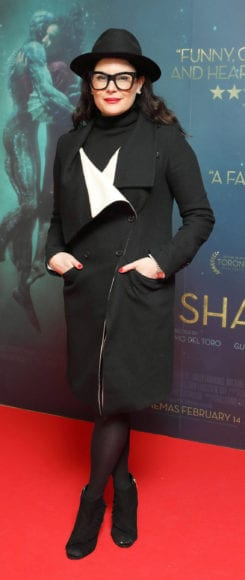 Lisa Cannon at the Irish premiere of The Shape of Water at The Lighthouse Cinema, Dublin Picture Brian McEvoy Photography No Repro fee for one use