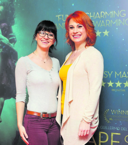 Danielle Gibney and Niamh Martin at the Irish premiere of The Shape of Water at The Lighthouse Cinema, Dublin Picture Brian McEvoy Photography No Repro fee for one use