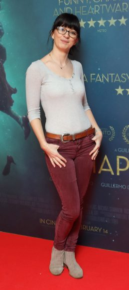 Danielle Gibney at the Irish premiere of The Shape of Water at The Lighthouse Cinema, Dublin Picture Brian McEvoy Photography No Repro fee for one use