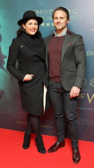 Lisa Cannon and Richard Keatley at the Irish premiere of The Shape of Water at The Lighthouse Cinema, Dublin Picture Brian McEvoy Photography No Repro fee for one use
