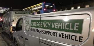 One of Inner City Helping Homeless (ICHH)'s emergency outreach support vehicles that will be operating throughout the cold weather to help the homeless.