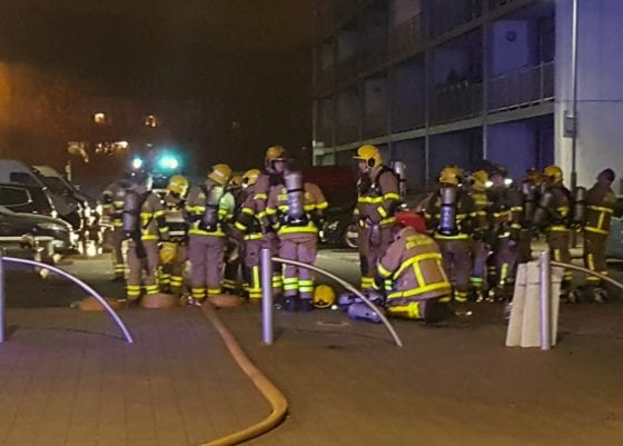 Dublin Fire Brigade responding to the fire at Metro Hotel in Ballymun.