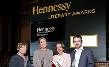 Pictured at last year's Hennessy Literary Awards were Vona Groarke, Hall of Fame Inductee; Una Mannion, Emerging Poetry Winner, Rachel Donohue, Emerging Fiction Winner and Hennessy New Irish Writer of the Year; Sean Tanner, First Fiction Winner Pic: Marc O'Sullivan