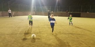 Fionn Faherty (8) at the charity football event he helped to organise in aid of The Peter McVerry Trust