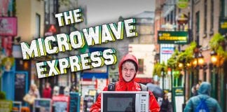 Diarmuid McCleary setting off across Ireland with a microwave for mental health