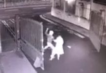 A still from CCTV footage of the attempted mugging at Mill Park