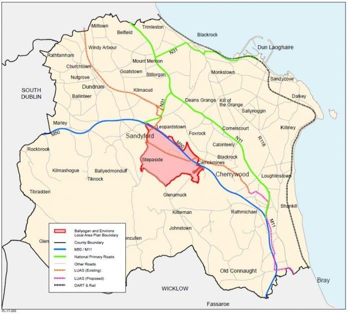 Ballyogan and Environs local area plan boundary