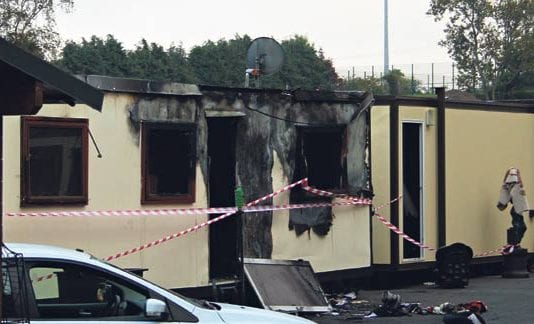 One of the temporary homes off Glenamuck Road, Carrickmines that was damaged in the blaze in 2015