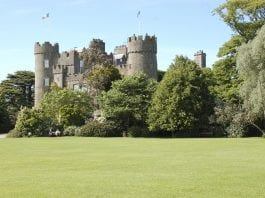 woman was dragged up to 30 metres along the road by a car in a mugging at Malahide Castle on Monday