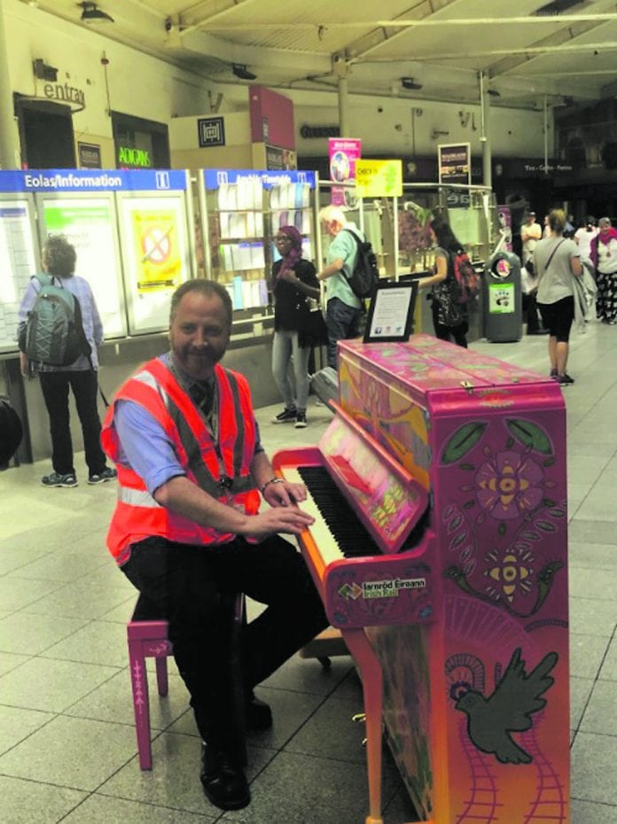 There's a new public piano in Connolly station