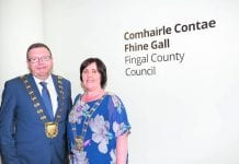 Fingal's new Mayor Anthony Lavin and Deputy Mayor Grainne Maguire