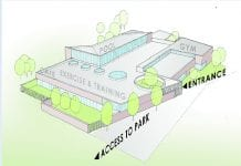 The proposed Lucan swimming pool