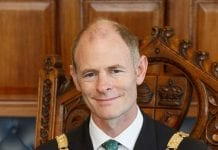 Councillor Ossian Smyth was elected Cathaoirleach of DLRCC on Monday evening