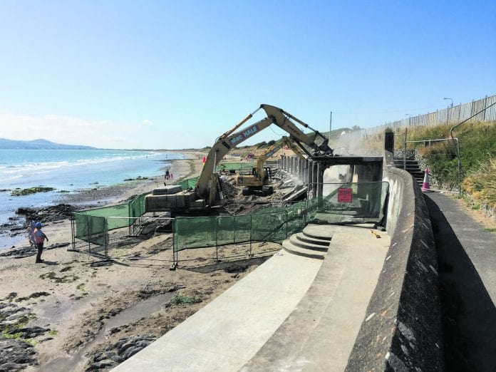 Fingal County Council say the loss of the Portmarnock beach shelters is only temporary