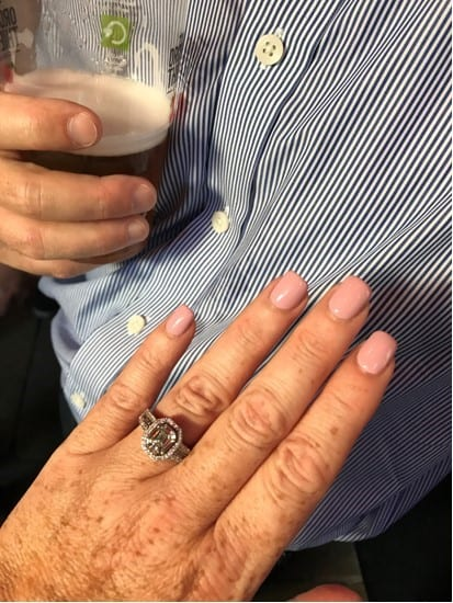Laetitia shows off her beautiful engagement ring