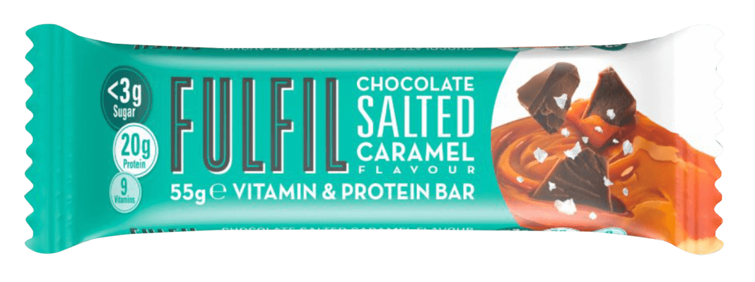 The new Fulfil Chocolate Salted Caramel bar
