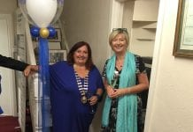 President of DLR Chamber Aileen Eglington and CEO Gabby Mallon at the opening of the launch of their new offices