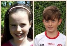 Gavin King (9) and Emily Cotter (10)