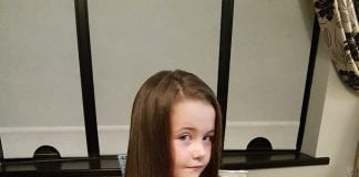 Lucie Perry (7) decided to donate her hair after a classmate in Junior infants lost her hair while undergoing cancer treatment