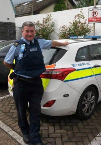 Garda Pat Cullen outside Lambs Cross