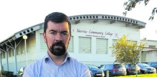 Joe O'Brien outside Skerries Community College