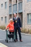 Pictured at the official opening of Phase 3 was resident Roseanna Mooney and Councillor Ossian Smyth, Cathaoirleach of Dun Laoghaire-Rathdown County Council. Photo: Peter Cavanagh Photography