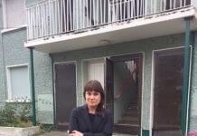 Cllr Deirdre Donnelly outside St Laurences Maisonnettes