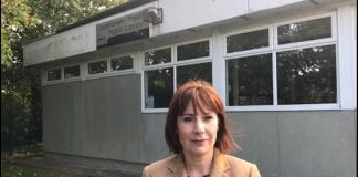 Minister Josepha Madigan at the current Stillorgan Library