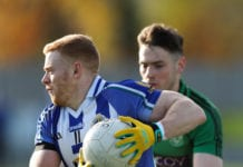 Cathal Flaherty in action for Ballyboden. St. Enda's in their AFL1 Semi-final win over Lucan Sarsfields. Picture: John Kirwan
