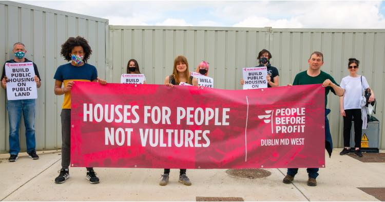 Lucan Houses for People Not Vultures protest 29 May
